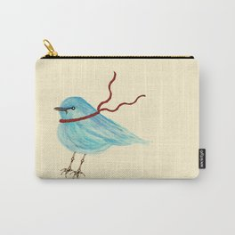 Winter Bluebird  Carry-All Pouch
