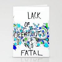 creativity Stationery Cards featuring Creativity by Bianca Iarrobino
