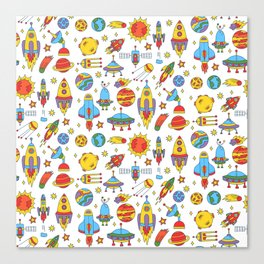 Outer space cosmos pattern Canvas Print