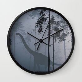 Dinosaur by Moonlight Wall Clock
