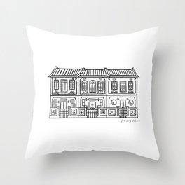 Shop Houses - Singapore  Throw Pillow