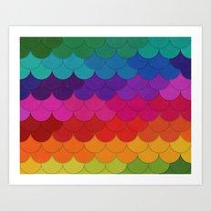 Rainbow Scallops Art Print