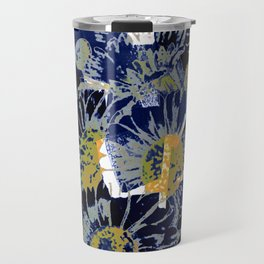 daisies on astract bakground Travel Mug