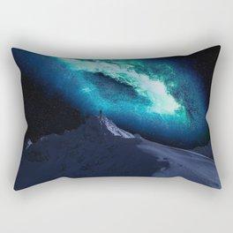 Contemplating Forever Dark Teal Rectangular Pillow