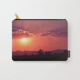 Desert Sunset Silhouettes Carry-All Pouch