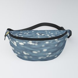 Water Sparkles Photography, Sparkly Ocean, Dark Sea Moonlight Fanny Pack