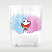 pride Shower Curtains featuring Pride by Riku Forsman
