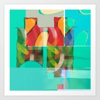 pool Art Prints featuring POOL by  ECOLARTE