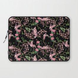 bird and flowers Laptop Sleeve