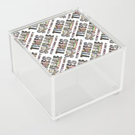Times Square New York City (diagonal type on white) Acrylic Box