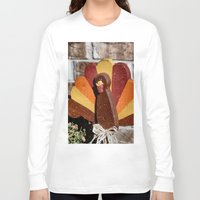 turkey Long Sleeve T-shirts featuring Turkey Day by IowaShots