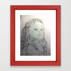 Little Girl Framed Art Print