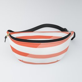 Beach Stripes Red Pink Fanny Pack