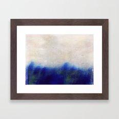 blue blur Framed Art Print