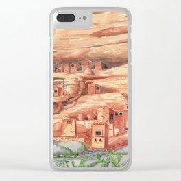 Desert Village Clear iPhone Case