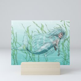 Mermaid Swim Mini Art Print