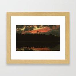 Fiery Skies Framed Art Print