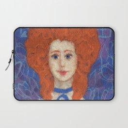 Red Hair, ginger lady, rococo haircut, felt painting, fiber art Laptop Sleeve