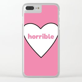 Horrible Clear iPhone Case