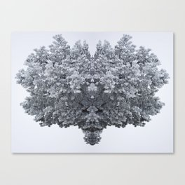 Mirror Tree - Winter Canvas Print