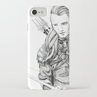 legolas iPhone & iPod Cases featuring Legolas by Margret Stewart