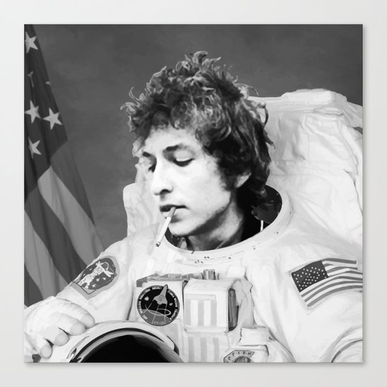bob dylan spacer Canvas Print