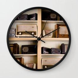 Vintage radio Wall Clock