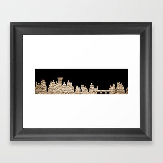 Slot city skyline Framed Art Print