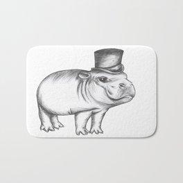 Gentleman Hippo Bath Mat