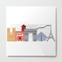 Paris, France Metal Print