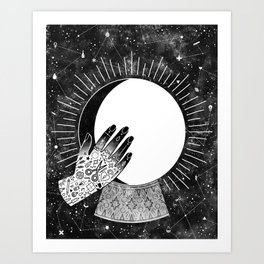Waxing Gibbous Art Print