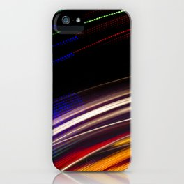 Traces of colored lights iPhone Case