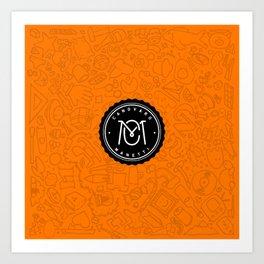 Orange Canovaro Manetti  Art Print