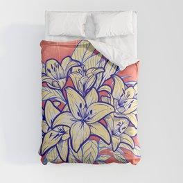 Conteporane lilies Comforters