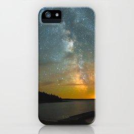 Milky Way Galaxy in Manitoba iPhone Case