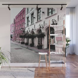 Pink Streets Wall Mural