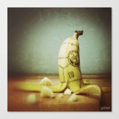 Moby's Little Idiot in a Banana Crash Canvas Print