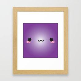 Kawaii Face (Purple) Framed Art Print