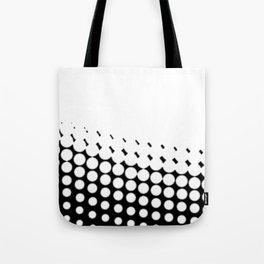 Diagonal  B and W Half Tone Tote Bag