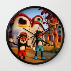 Goodbye Matatoon town Wall Clock