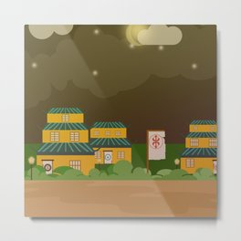 Four houses in the night Metal Print