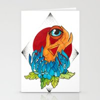 hamsa Stationery Cards featuring Hamsa by missfortunetattoo