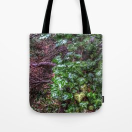 Gnarled vines & Ivy on a Misty Day Tote Bag