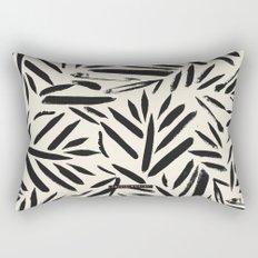 Not So Black and white leaves Rectangular Pillow