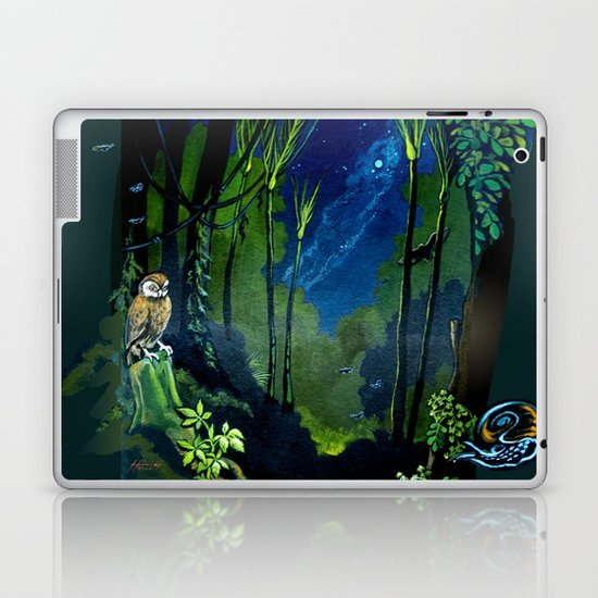 Silent Night in the New Zealand Forest Laptop & iPad Skin