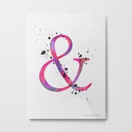 Ampersand - Pink Splatter Metal Print
