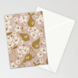 Modern Pear Tree Stationery Cards