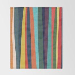 Mid-century zebra Throw Blanket