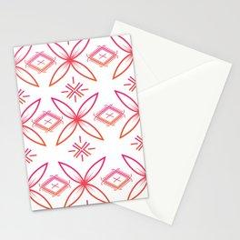 UrbanNesian Pink & Orange Siapo & Malu Design Stationery Cards