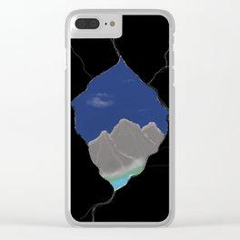 Peek a peak Clear iPhone Case